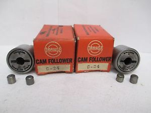 "ORANGE CAM FOLLOWER BEARING S-24 S24 ""LOT OF 2"""