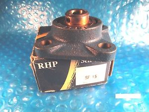 RHP SF15, Ball Bearing Flange Unit, Insert=1017-15G