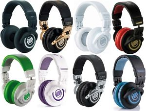 Reloop RHP-10 DJ Headphones w/ Carry bag and extra ear pads. 5 Color Options