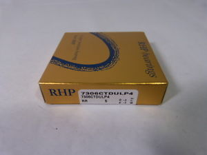 RHP 7306CTDULP4 Precision Angular Contact Bearing *Sealed* !  IN BOX !