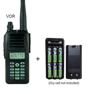 Rexon Air Band Handheld Radio RHP-530 VOR with empty battery case