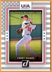 2016 DONRUSS USA COLLEGIATE NATIONAL TEAM #USA-4 BOBBY DALBEC RHP/INFEILD