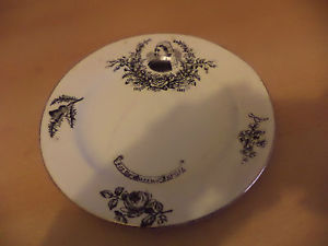 OLD ANTIQUE POTTERY ROYALTY PLATE QUEEN VICTORIA JUBILEE 1887 RHP & CO PLANT