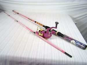 RODDY HUNTER RHP65 6.5 FT PINK FISHING ROD POLE LIGHT UP REEL