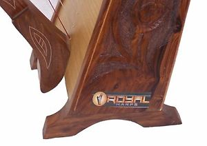 Large Pedestal Harp with Full Metal Levers 31 Strings Extra Strings Lever & Case