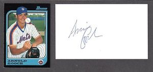 Arnold Gooch ( RHP MINORS 1994-2002 ) METS SIGNED AUTOGRAPH AUTO 3×5 INDEX COA