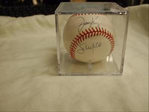 Jimmy Key RHP and Sam Militello LHP Autographed Baseball