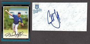 Colt Griffin ( RHP MINORS 2001-05 )  ROYALS  SIGNED AUTOGRAPH AUTO 3×5 INDEX COA
