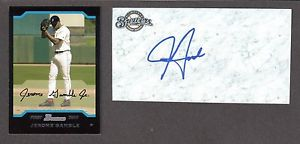 Jerome Gamble RHP (1998-09)  BOS  MIL ATL  SIGNED AUTOGRAPH AUTO 3×5 INDEX COA