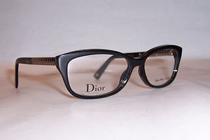 CHRISTIAN DIOR EYEGLASSES CD 3258 RHP BLACK GOLD 52mm RX AUTHENTIC