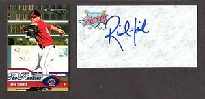 Rich Fischer ( RHP MINORS 2000-04 ) ANGELS  SIGNED AUTOGRAPH AUTO 3×5 INDEX COA