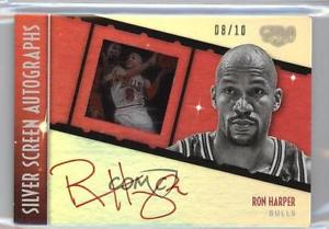 2015 Panini Gala Silver Screen Autographs Red Ink SS-RHP Ron Harper /10 Auto 0q0