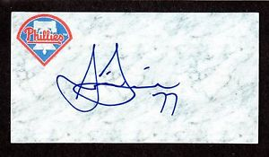 Justin Friend ( RHP MINORS 2007-14 ) PHI OAK SIGNED AUTOGRAPH AUTO 3×5 INDEX COA