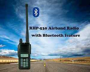 Rexon Air Band Handheld Radio/ Transceiver RHP-530 with Bluetooth & VOR feature