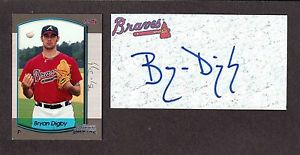 Bryan Digby RHP MINORS 2000-06  BRAVES  SIGNED AUTOGRAPH AUTO 3×5 INDEX COA