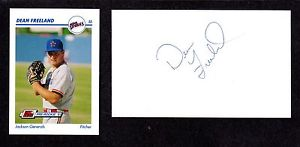 Dean Freeland ( RHP MINORS 1984-91 ) HOU SF  SIGNED AUTOGRAPH AUTO 3×5 INDEX COA