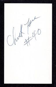 Chuck Fore ( RHP MINORS 1977-83 ) TOR ATL  SIGNED AUTOGRAPH AUTO 3×5 INDEX COA