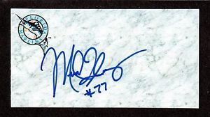 Mike Michael Flannery (RHP M/L 2000-07)  MIA SIGNED AUTOGRAPH AUTO 3×5 INDEX COA