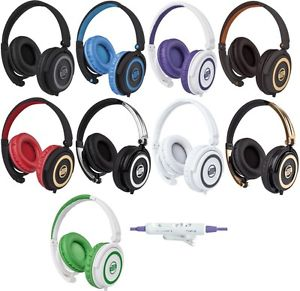 Reloop RHP-5 DJ Headphones with phone controls.  9 colors to choose from.