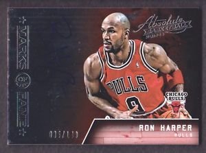 2015-16 Absolute Marks of Fame #MK-RHP Ron Harper Auto 035/149 Chicago Bulls