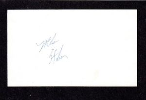 Mike Stoker RHP MINORS 1986-89 ASTROS BRAVES SIGNED AUTOGRAPH AUTO 3×5 INDEX COA
