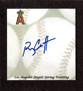 Ryan Chaffee RHP  MINORS  2009-13  LA ANGELS SIGNED AUTOGRAPH AUTO 3×5 INDEX COA