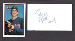 Johnny Ard  RHP MINOR LEAGUER 1988-93 TWI SF SIGNED AUTOGRAPH AUTO 3×5 INDEX COA