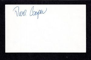 Dave E Cooper RHP MINORS (1985-90)  TIGERS  SIGNED AUTOGRAPH AUTO 3×5 INDEX COA