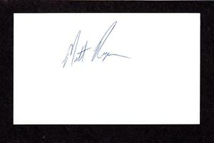 Matt Ryan RHP  MINORS 1993-2000 PIT BAL SIGNED AUTOGRAPH AUTO 3×5 INDEX COA