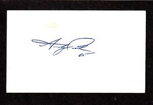 Andy Croghan RHP MINORS (1991-99) NYY LAD BJ SIGNED AUTOGRAPH AUTO 3×5 INDEX COA