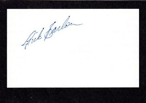 Ricky Barlow MINOR LEAGUE RHP Tigers 1981-87 SIGNED AUTOGRAPH AUTO 3×5 INDEX COA