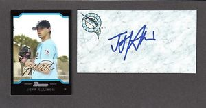 Jeff Allison RHP MINOR LEAGUER 2003-2011 FLA SIGNED AUTOGRAPH AUTO 3×5 INDEX COA
