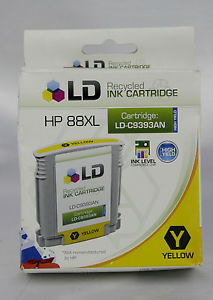 A LOT OF 2 LD Reman Replacements for HP 88XL CYAN & YELLOW Inkjet Cartridges