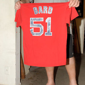 DANIEL BARD BOSTON RED SOX T SHIRT JERSEY MED #51 RHP VERY RARE SCARCE NM- VG+