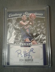 2015-16 PANINI THREADS CENTURY SIGNATURES #CS-RHP RON HARPER AUTO #94/199