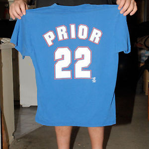 MARK PRYOR CHICAGO CUBS JERSEY T SHIRT ROOKIE YEAR 2002 LARGE RARE RHP