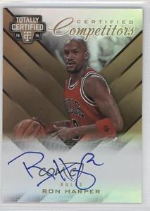 2015 Panini Totally Certified CCA-RHP Ron Harper /10 Chicago Bulls Auto Card 1m0