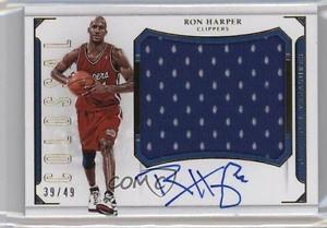 2015 Panini National Treasures #CJ-RHP Ron Harper Los Angeles Clippers Auto 2m4