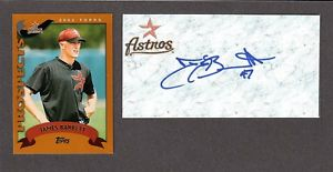 Jimmy Barrett  RHP  MINORS  1999-03  ASTROS  SIGNED AUTOGRAPH AUTO 3×5 INDEX COA