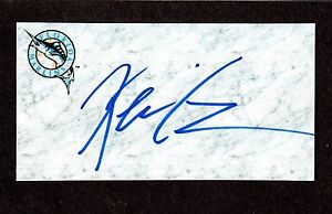 Kevin Cave RHP MINORS  2001-06  FLA MARLINS  SIGNED AUTOGRAPH AUTO 3×5 INDEX COA
