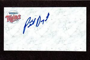 Patrick Bryant RHP  MINORS  2004-06 TWINS  SIGNED AUTOGRAPH AUTO 3×5 INDEX COA