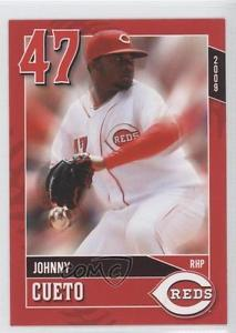 2009 Kahn's Cincinnati Reds #RHP Johnny Cueto Baseball Card 9×3