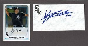 Anthony Carter RHP MINORS 2005-13  WHX  BOST SIGNED AUTOGRAPH AUTO 3×5 INDEX COA