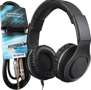 Reloop RHP-30 Black Premium DJ Headphones + KEEP DRUM Extension cable 3m