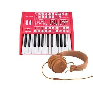 Arturia Red Minibrute Analog Synth LIMITED with Reloop RHP-6 ORANGE Headphones
