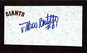 Fabio Castillo RHP MINORS 2006-13  TEXAS SF  SIGNED AUTOGRAPH AUTO 3×5 INDEX COA