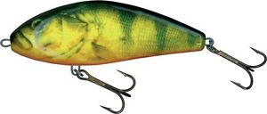 """Salmo Fatso Floating F14F-RHP Real Hot Perch 5 1/2"""" 3 3/8oz Jerkbait Pike Musky"""