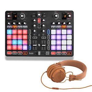 HERCULES P 32 DJ USB Midi Controller + Pair of Reloop RHP-6 Orange Headphones