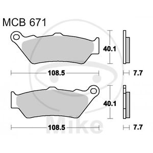 For BMW R 1200 HP2 Enduro RHP2 04-06 TRW Lucas Std Organic Front Brake Pads