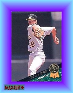 TODD VAN POPPEL Oakland ATHLETICS RHP The LEAF Update 1993 Card # 448 USA